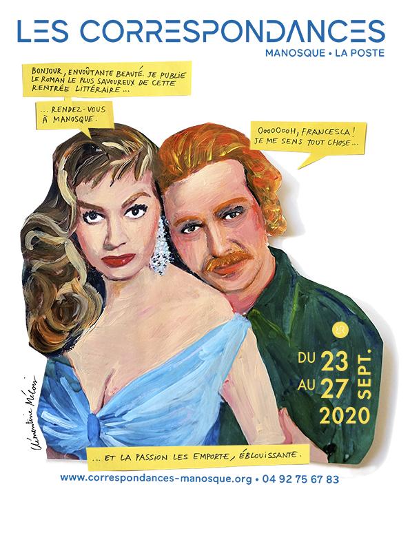 Affiche 2020 festival Correspondances Manosque