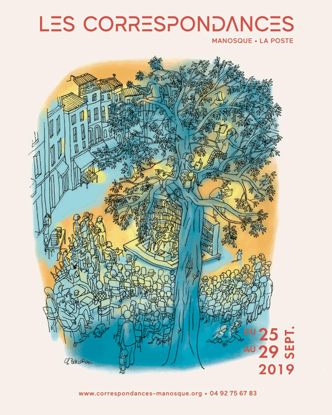 Affiche 2019 festival Correspondances Manosque