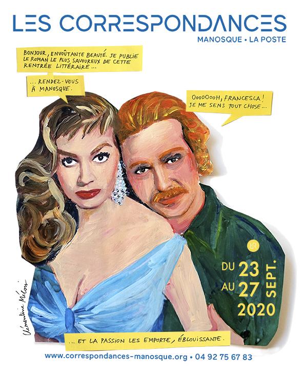 Affiche Les Correspondances de Manosque 2020 © Clémentine Mélois