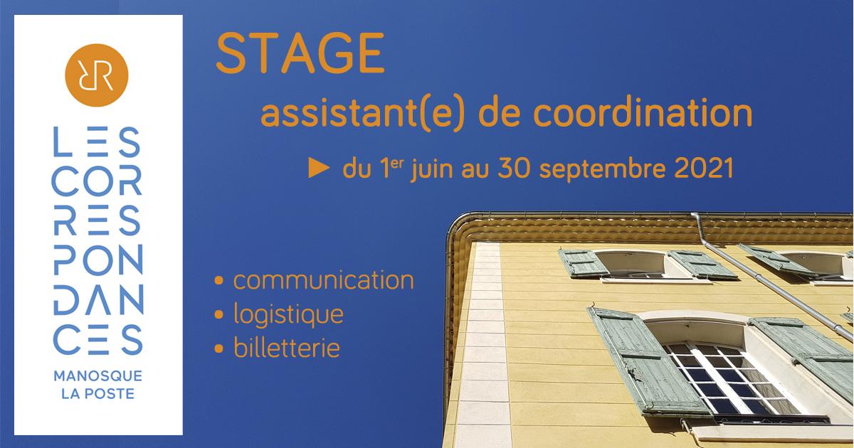 Stage festival Les Correspondances de Manosque 2021 : assistant(e) de coordination