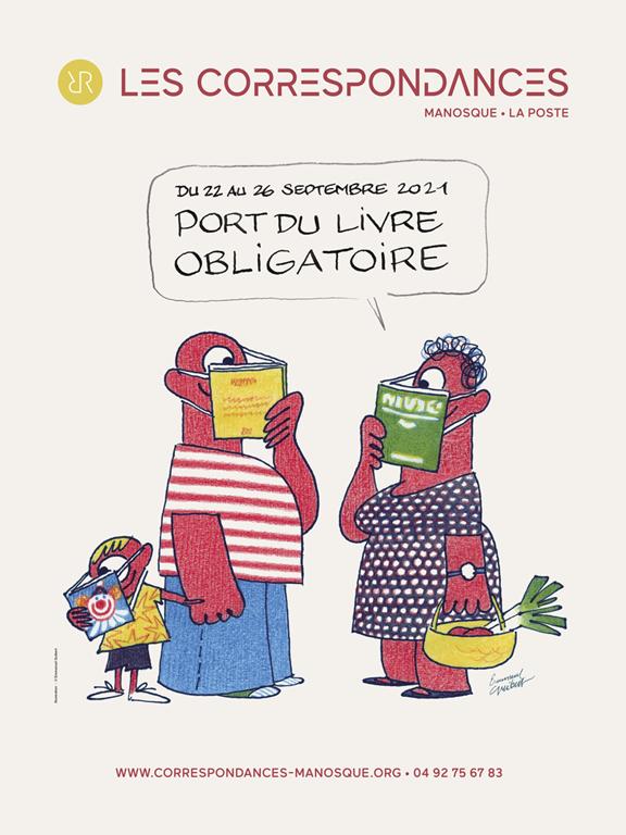 Les Correspondances de Manosque - Affiche 2021 © Emmanuel Guibert